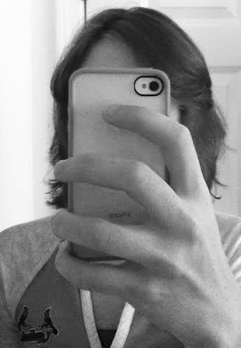 selfie b&w