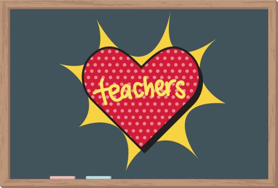 Teachers School Blackboard Chalkboard