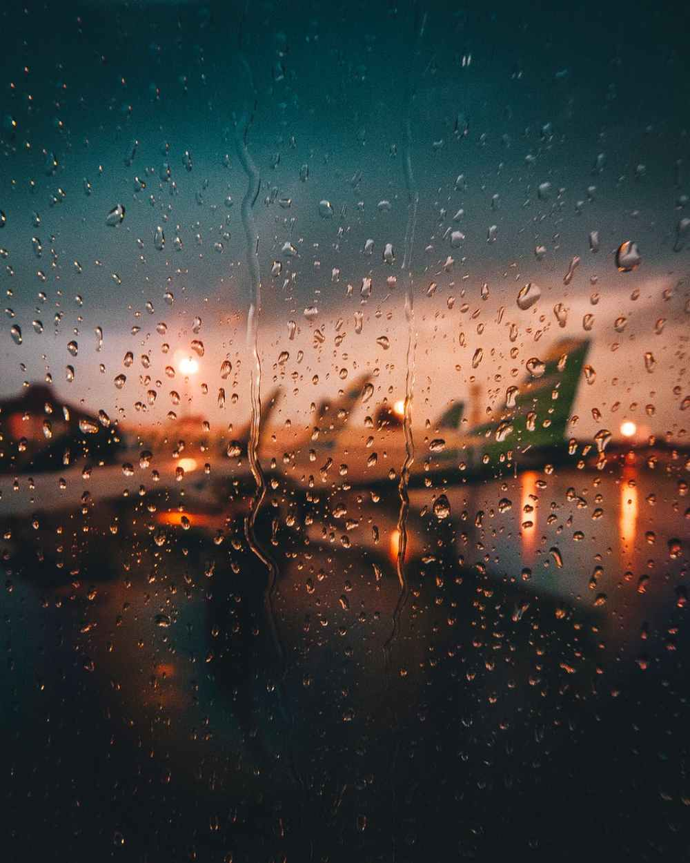 photo of rain drops planes